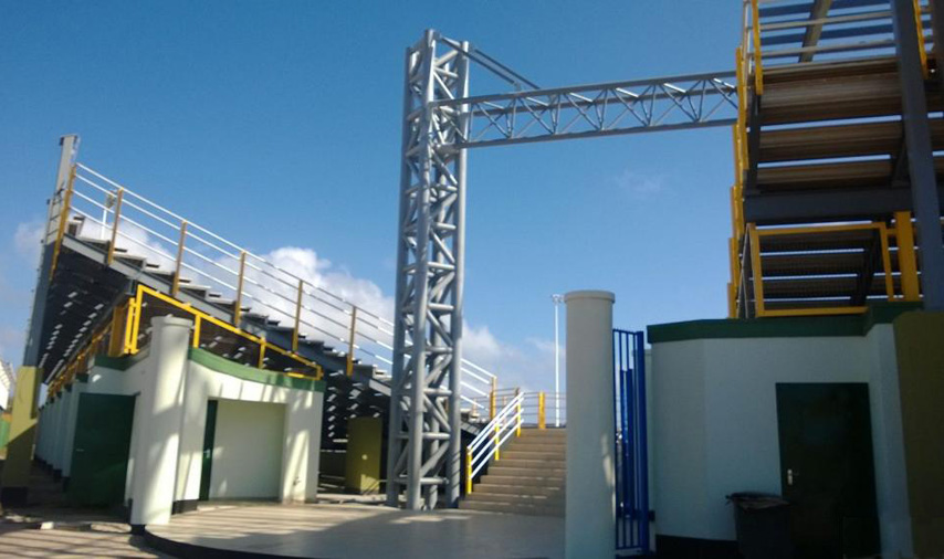 Steel structure sports stadium