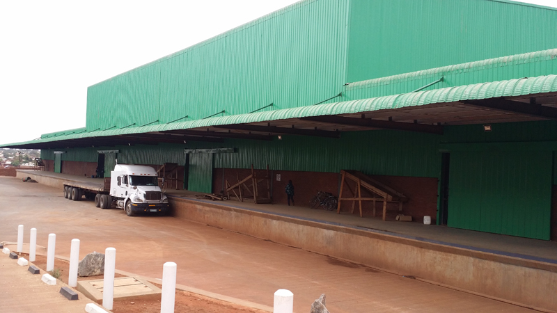 Malawi Prefabricated Steel Frame Warehouse