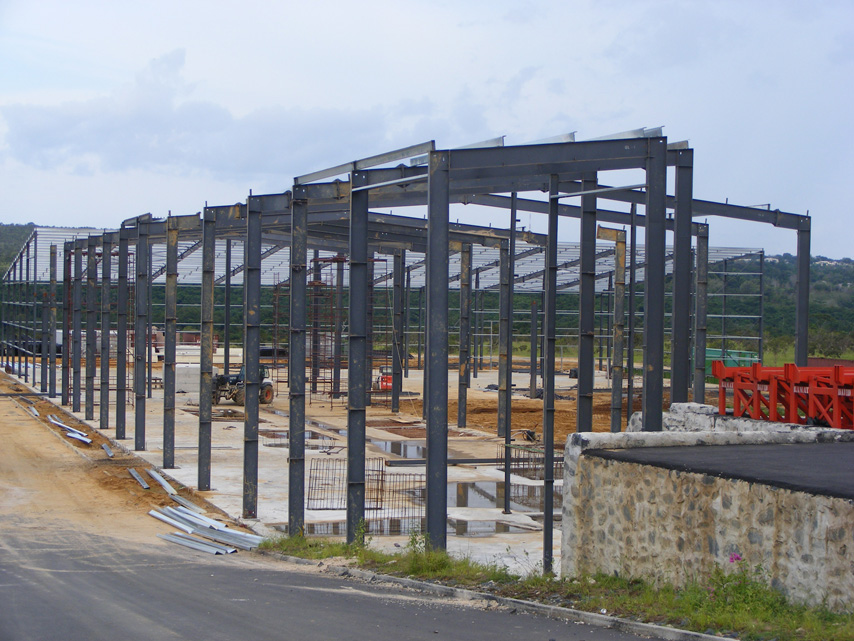 Gabon government project-steel structure warehouse