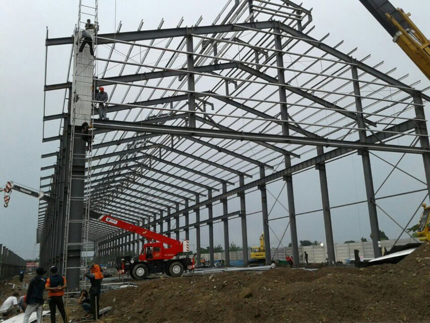 Steel Frame of Indonesia Industrial Steel Workshop