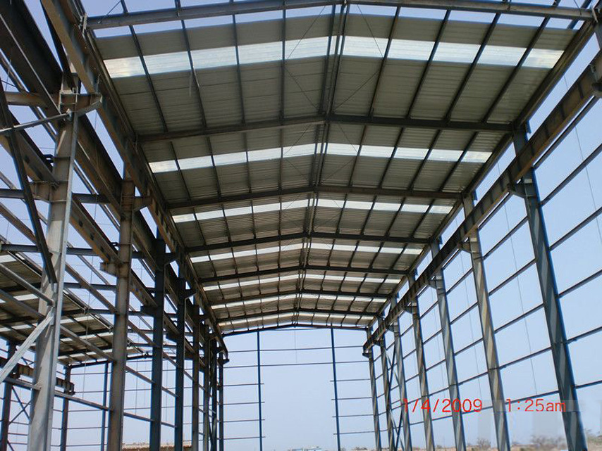 framework of steel structure workshop project in Senegal