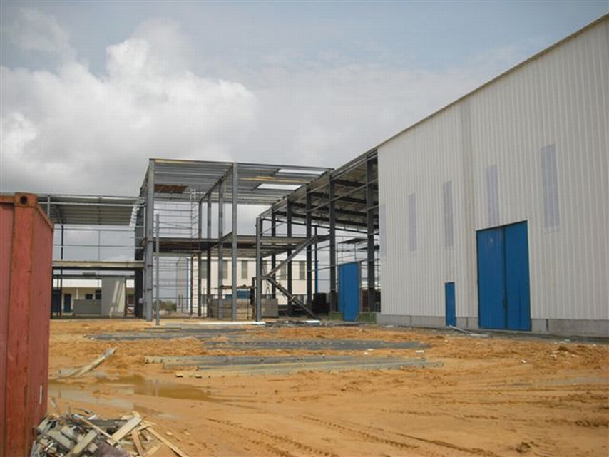 Gabon steel structure warehouse