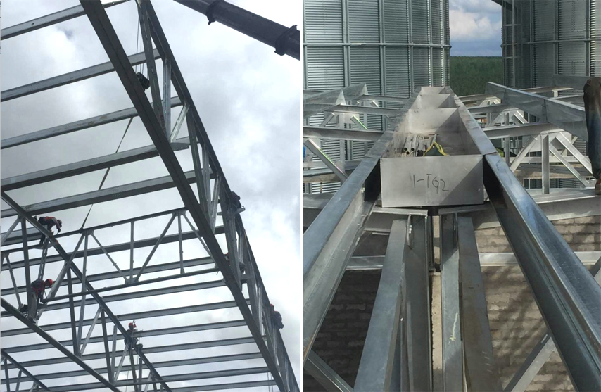 Congo Project - prefabricated steel roof trusses