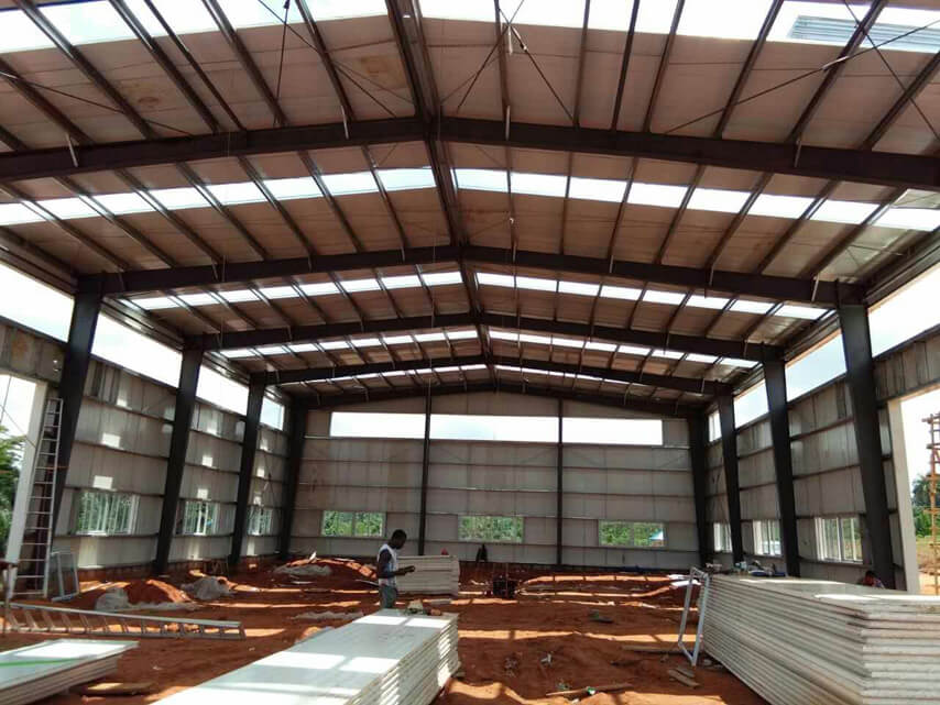 Wall and Roof Cladding of Steel Structure Plant
