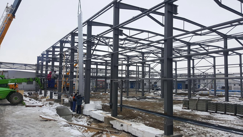 Czech Republic project - Pre Engineered Steel Frame Construction