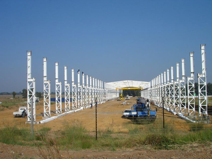 South Africa Heavy-duty Steel Structure Workshop Project installation