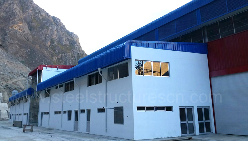 Peru Steel Structure Building for Hydroelectric Power Station