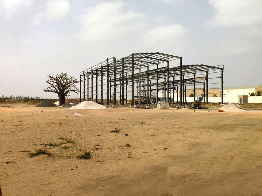 Senegal steel structure workshop project