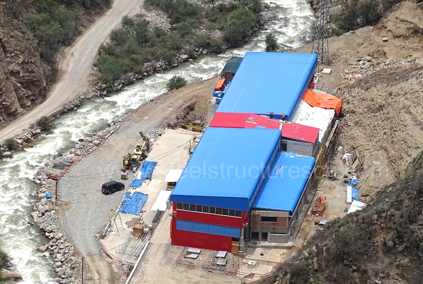 Peru steel structure building for Hydropower station