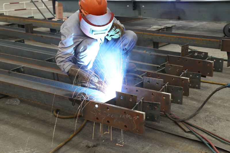 Welding-Sixth Step of Steel Structure Fabrication Procedure