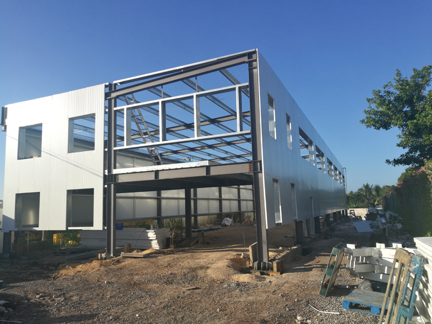 Jamaica Steel Structure Bakery House Erection