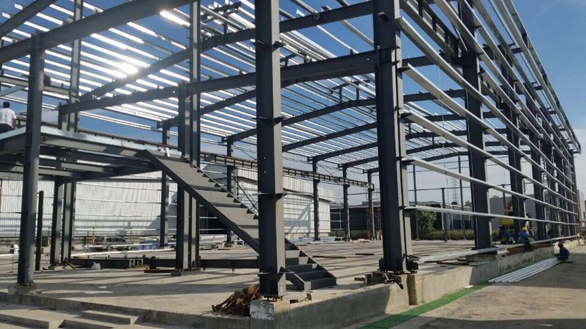 Malaysia Frame of Steel Structure Prefab Warehouse and Office
