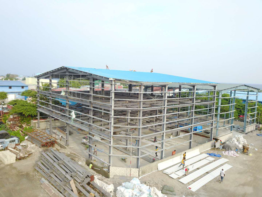 Three-Story Prefab Warehouse Project in Maldives