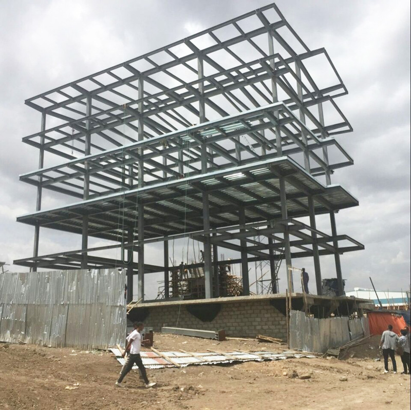 5-Story Steel Structure Prefab Office Building
